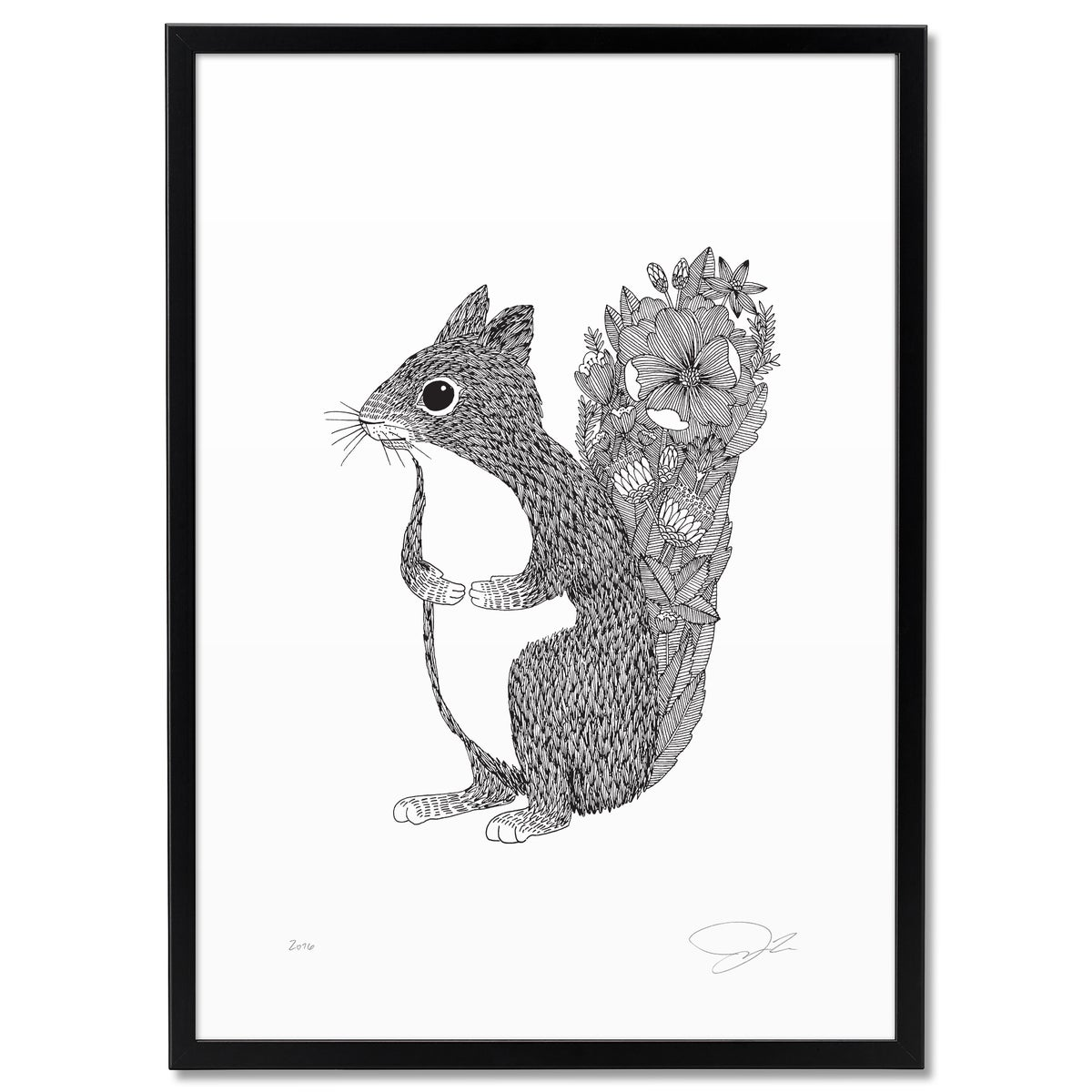 Image of Print: Flowery Squirrel