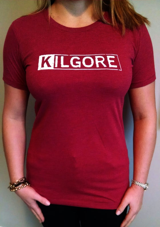 Image of Kilgore Logo LADIES MAROON T-shirt *Limited Edition*