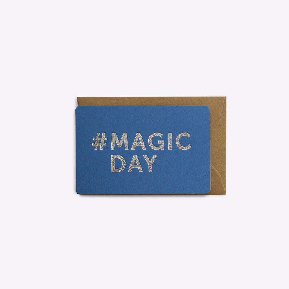 Image of MINI-CARTE #MAGICDAY bleu