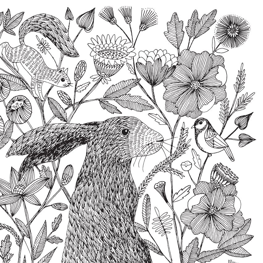 Image of Print: Forest Friends Hare