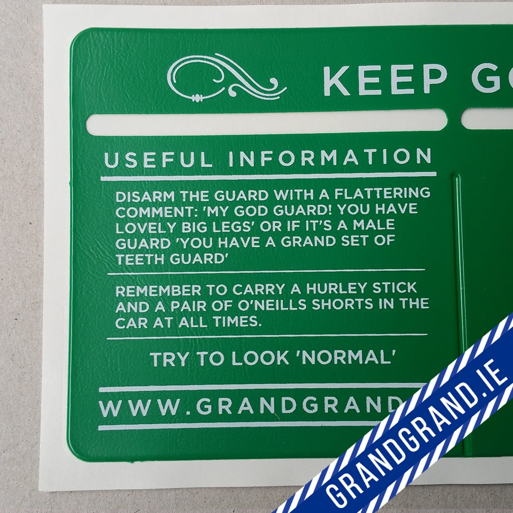 Image of 'YOU'RE LOOKING WELL GUARD' Tax/Insurance/NCT Disc Holder