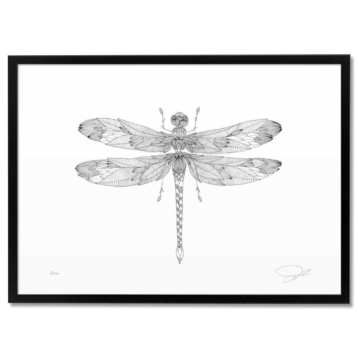 Image of Print: Flowery Dragonfly