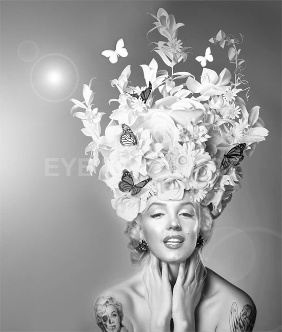 Image of Marilyn Natural Beauty B/W