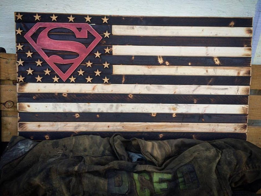 Image of Medium Superman or any Special Cutout Flag