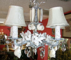 Image of White Washed Chandelier