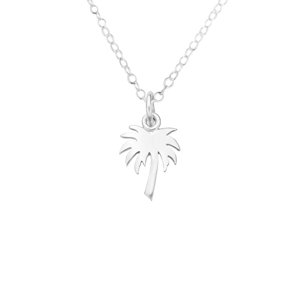 Image of Mini Palm Tree Necklace in Sterling Silver