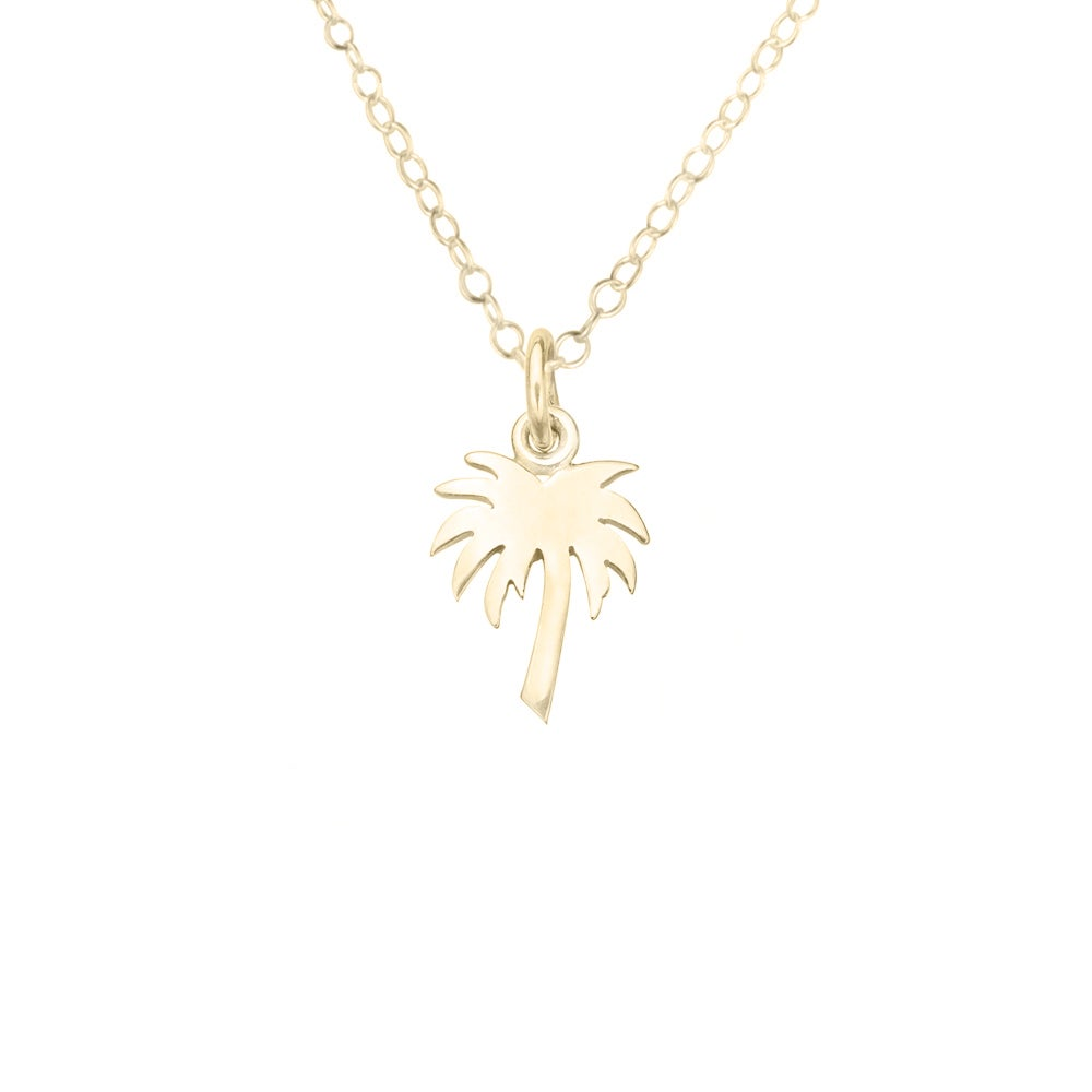 Image of Mini Palm Tree Necklace in Gold