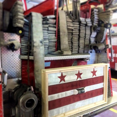 Image of DC Flag Made from Fire Hose