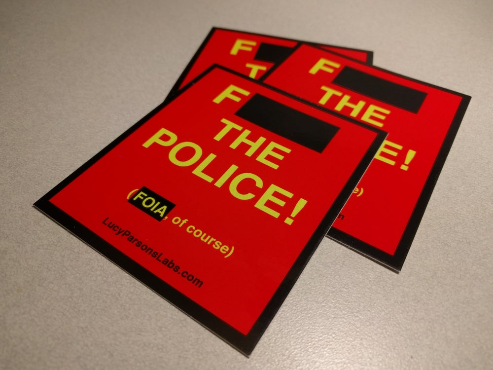 Image of F--- The Police Sticker (3 pack)
