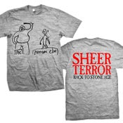 "Image of SHEER TERROR ""Back To Stone Age"" Heather Gray T-Shirt"
