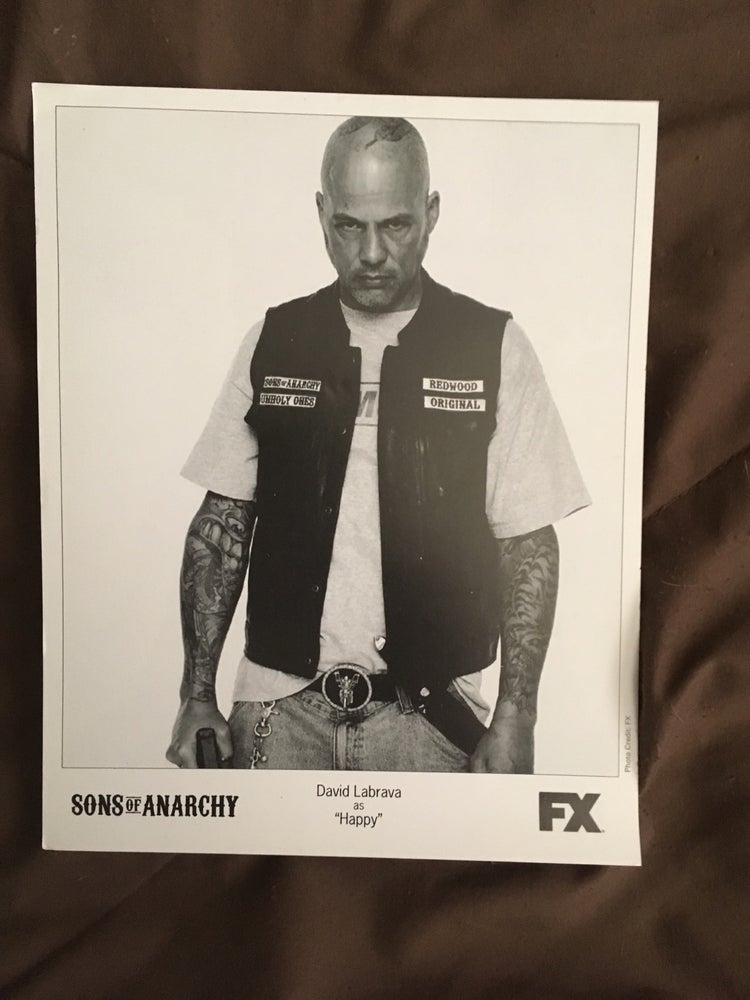 Image of 8x10 of David Labrava as Happy from the Sons of Anarchy