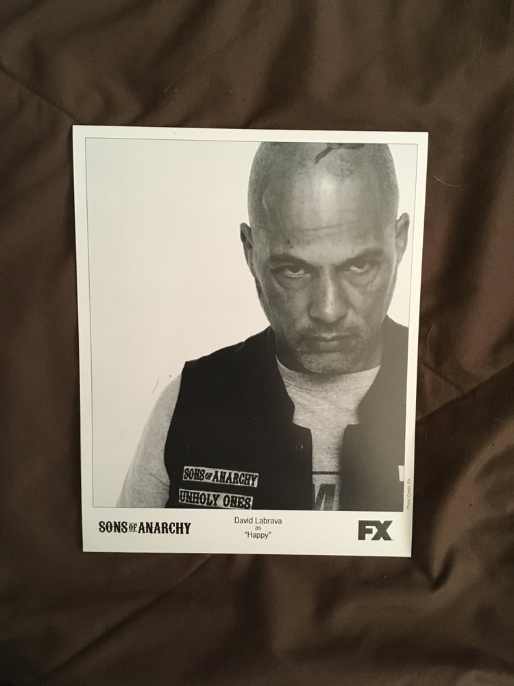Image of 8x10 of David Labrava as Happy from the Sons of Anarchy #2