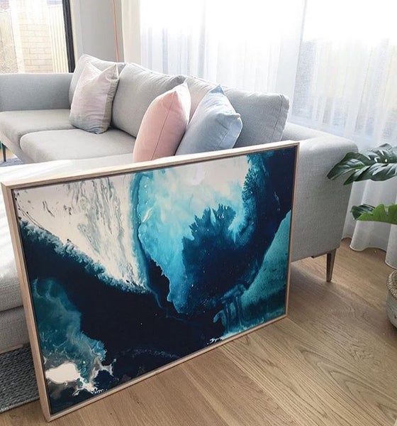 Image of Ocean Print 3 Stretched Canvas Print