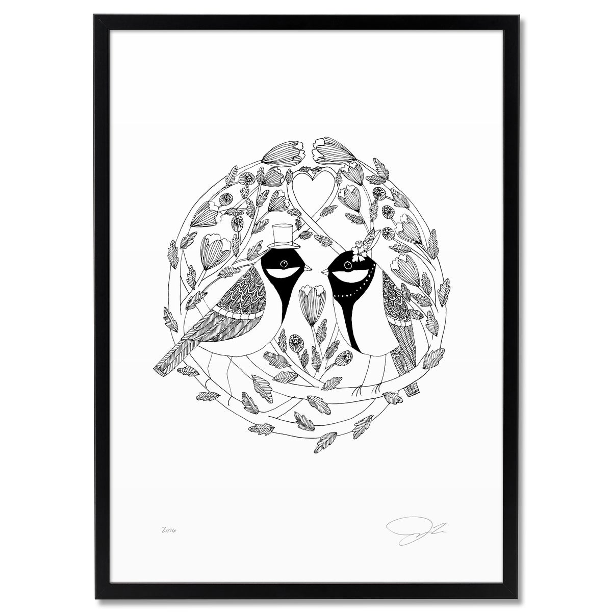 Image of Print: Bird Wedding