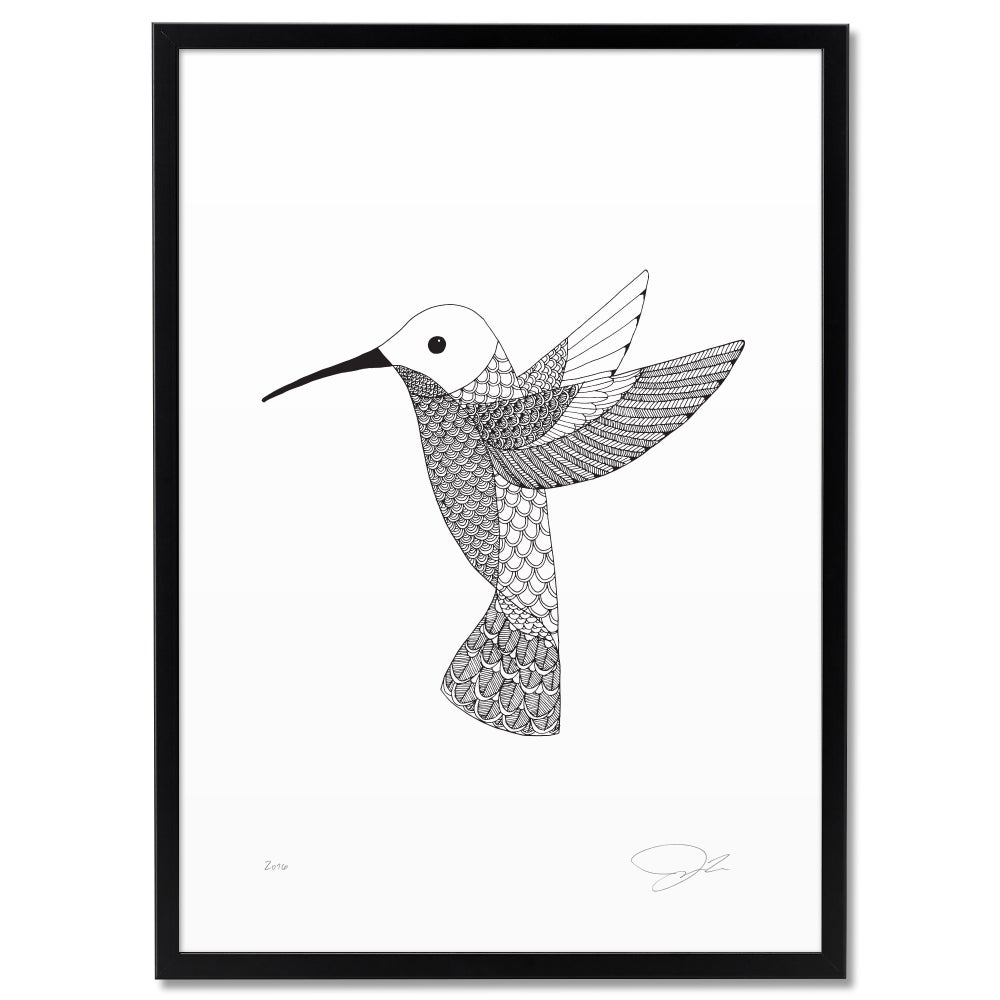 Image of Print: Humming bird