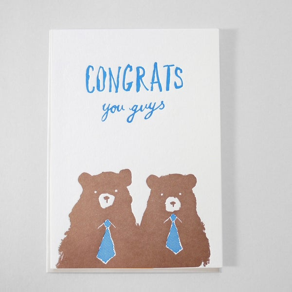 Image of CONGRATS YOU GUYS / BEARS