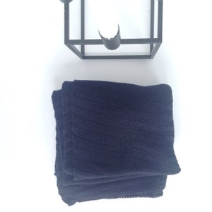 Image of Fishbone Pattern Scarf // Dark blue