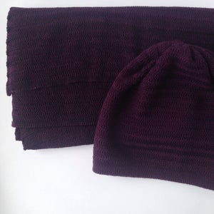 Image of Fishbone Pattern Hat // Dark plum