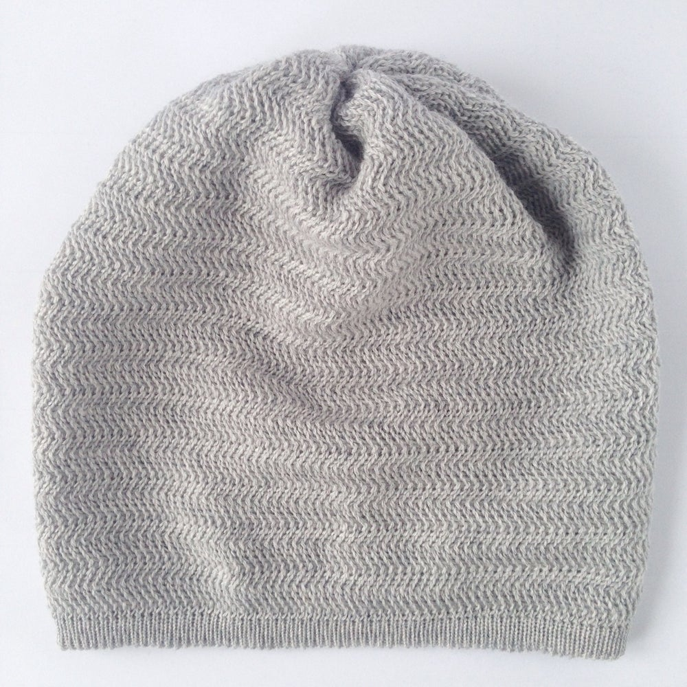 Image of Fishbone Pattern Hat // Light grey