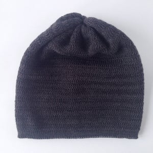 Image of Fishbone Pattern Hat // Dark grey