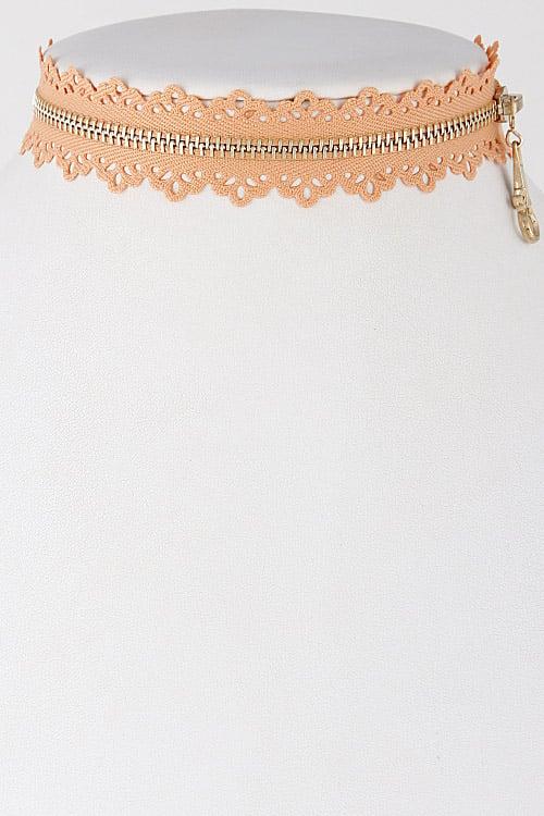 Image of Lace Zipper Choker