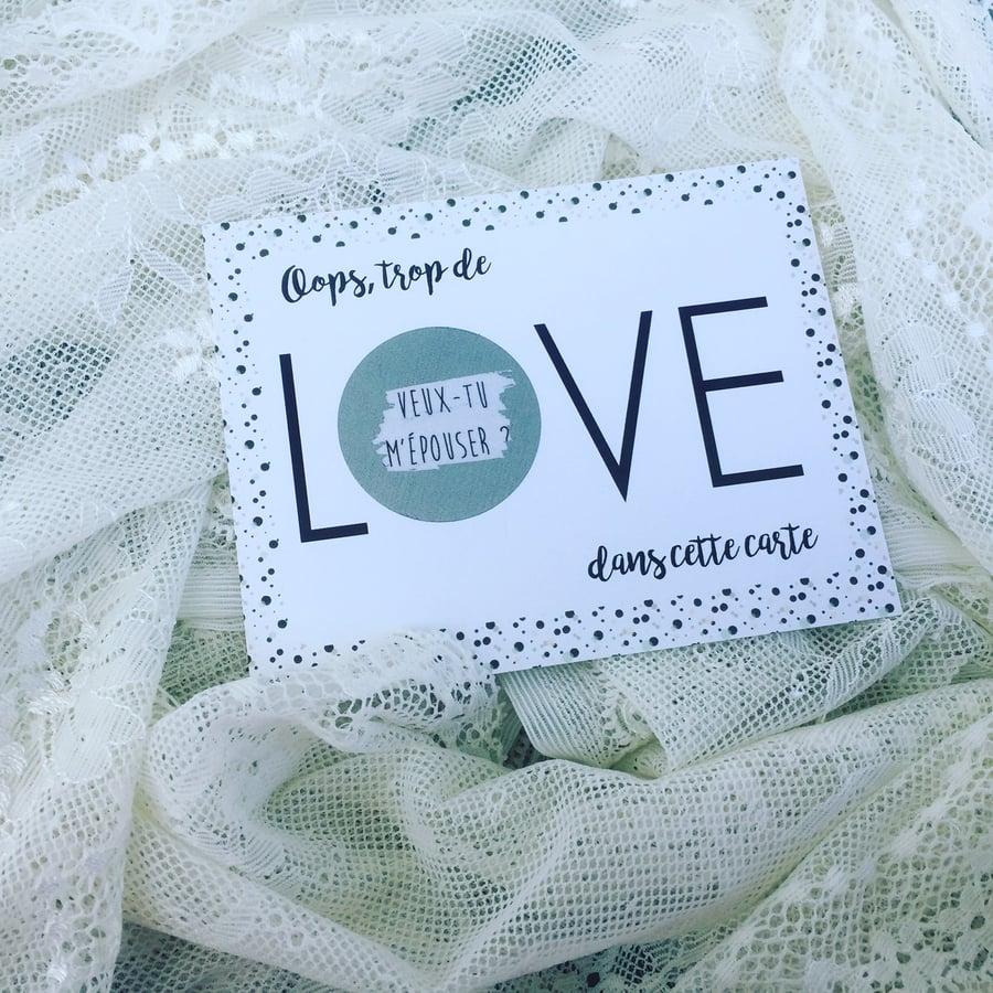 Image of Carte à gratter LOVE -Demande en mariage