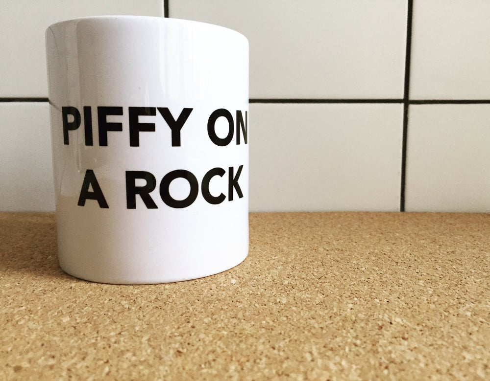 Image of Piffy on a Rock Mug