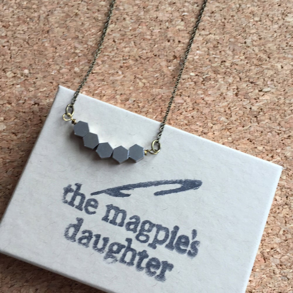 Image of Hexagon Bar Necklace by The Magpie's Daughter