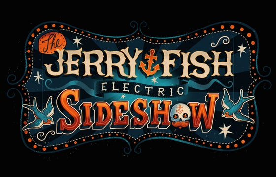 Image of The Jerry Fish Electric Sideshow (Logo) T.Shirt