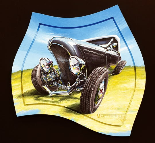 Image of 32 Ford Roadster Original Painting