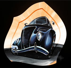 Image of 37 Ford Tudor Sedan Original Painting