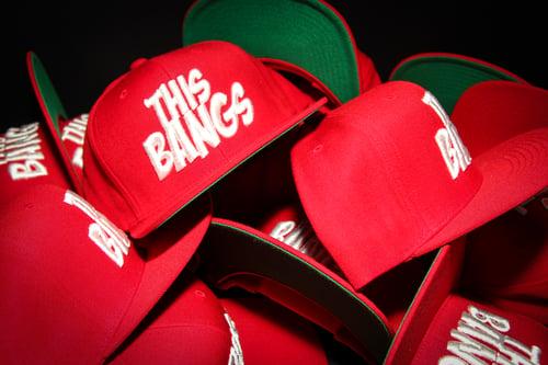 Image of This Bangs Logo SnapBack (Red & White)