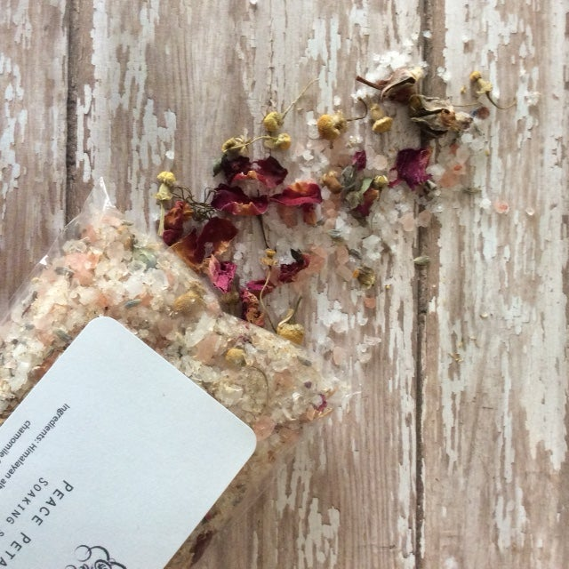 Image of Peace Petals Soaking Salt Bath