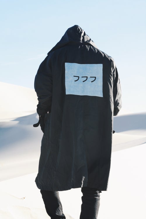 Image of WATER REPELLENT SOULJA TRENCH - BLACK