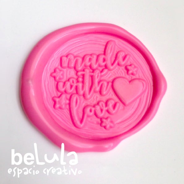 Image of Sello de lacre: Made with love corazón