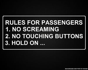 Image of Rules for passengers sticker