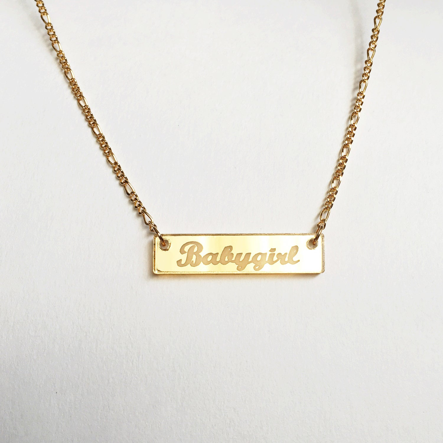 girl gold baby in necklace lyst metallic pendant babygirl jewelry designer missguided