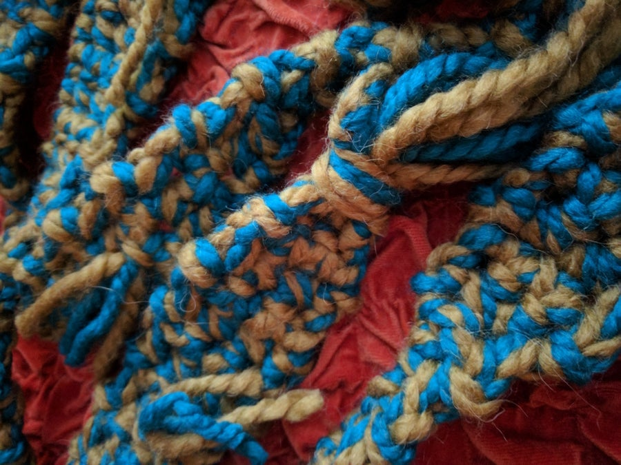Image of Colour Me Peacock Blue Statement Scarf