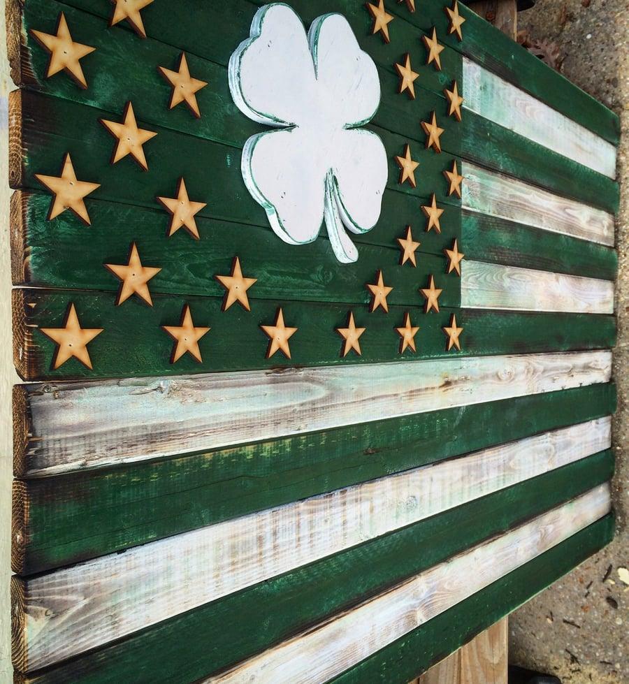 Image of Large American Shamrock Flag