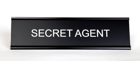 Image of Secret Agent Nameplate