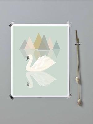 Image of Affiche Le lac du cygne A3