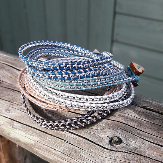 Image of Sterling Silver Double Wrap Bracelet