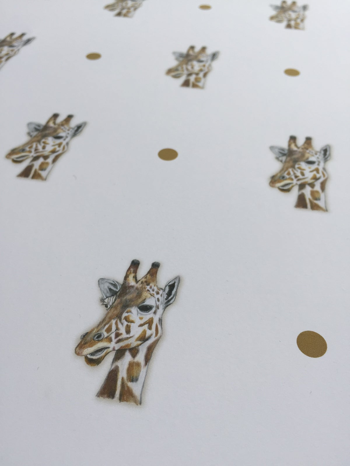 Image of Bee / Pizza / Giraffe Gift Wrapping Paper by Katezart Designs