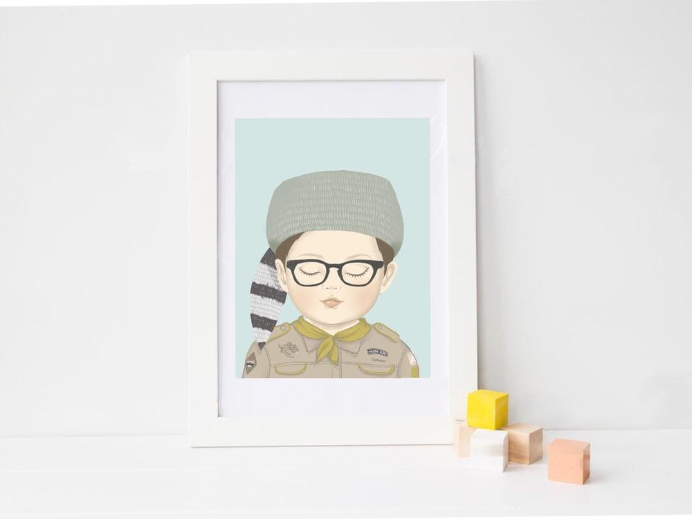 Image of Affiche Sam le Scout A3 SOLDE -30%