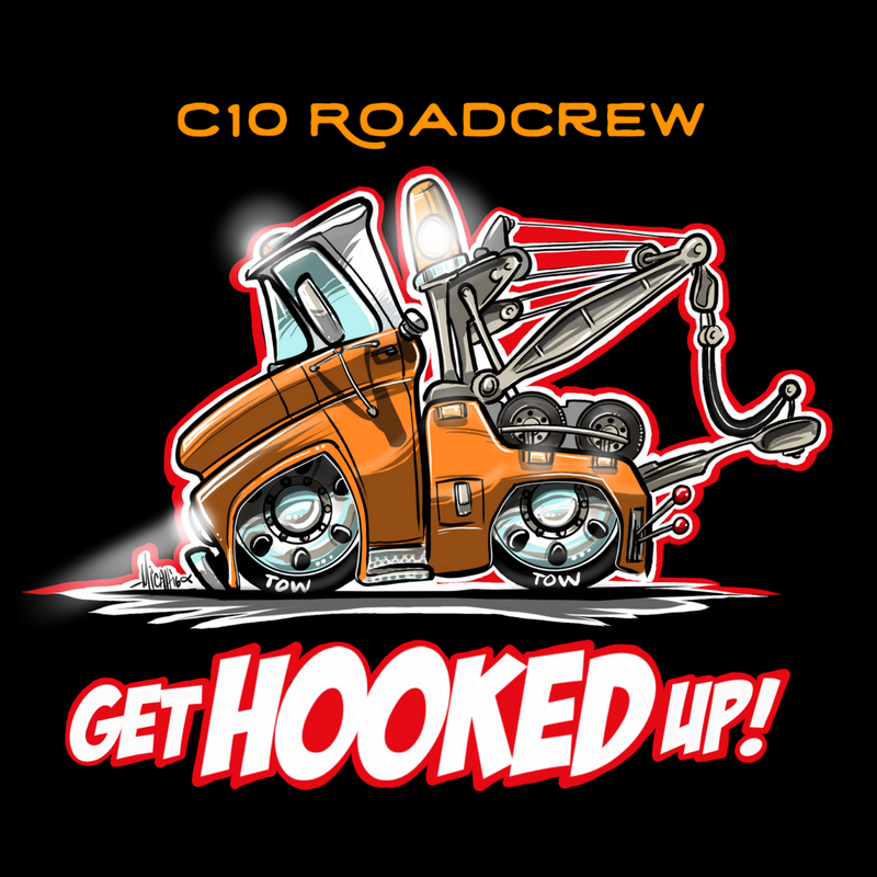 Image of C10 Road Crew...get hooked up!  (black t-shirt)