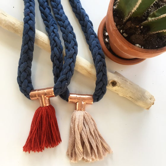 Image of Copper Detail and Tassel Necklace