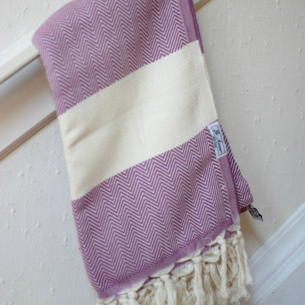 Image of Purple Chevron Towel