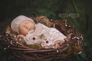 Image of Grapevine Baby Nest, Bird Nest Prop, Baby Bird Nest, Newborn Prop, Photography Prop, Mossy Prop