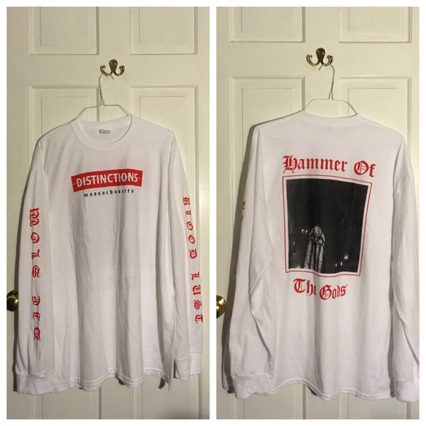 Image of Hammer of the Gods LS red/white