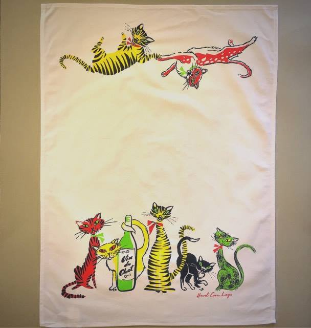 Image of Cat Crazy Tea Towel